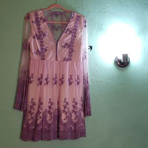 Hand dyed DIY lace dress one of a kind